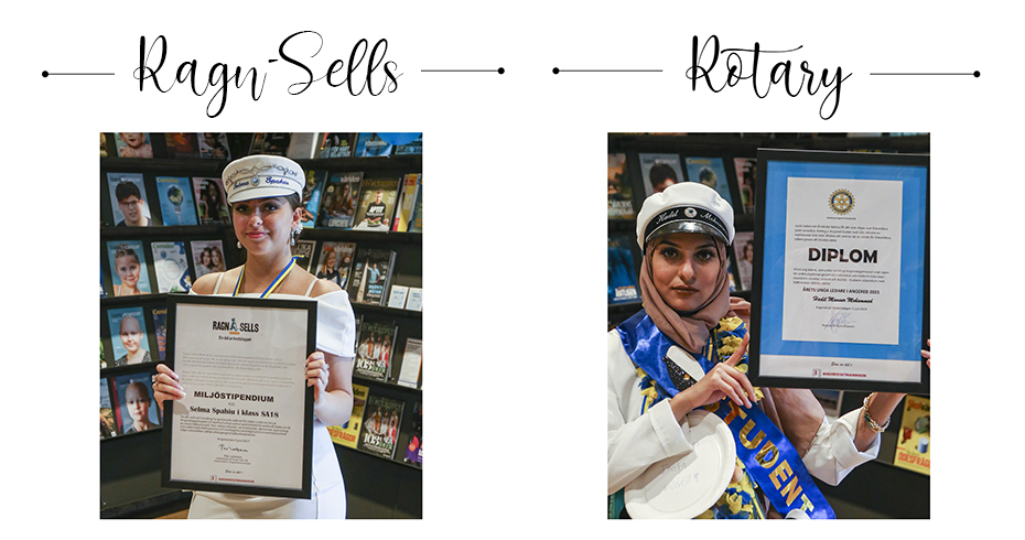 Stipendiat Ragn-Sells; Selma & Rotary; Hadil