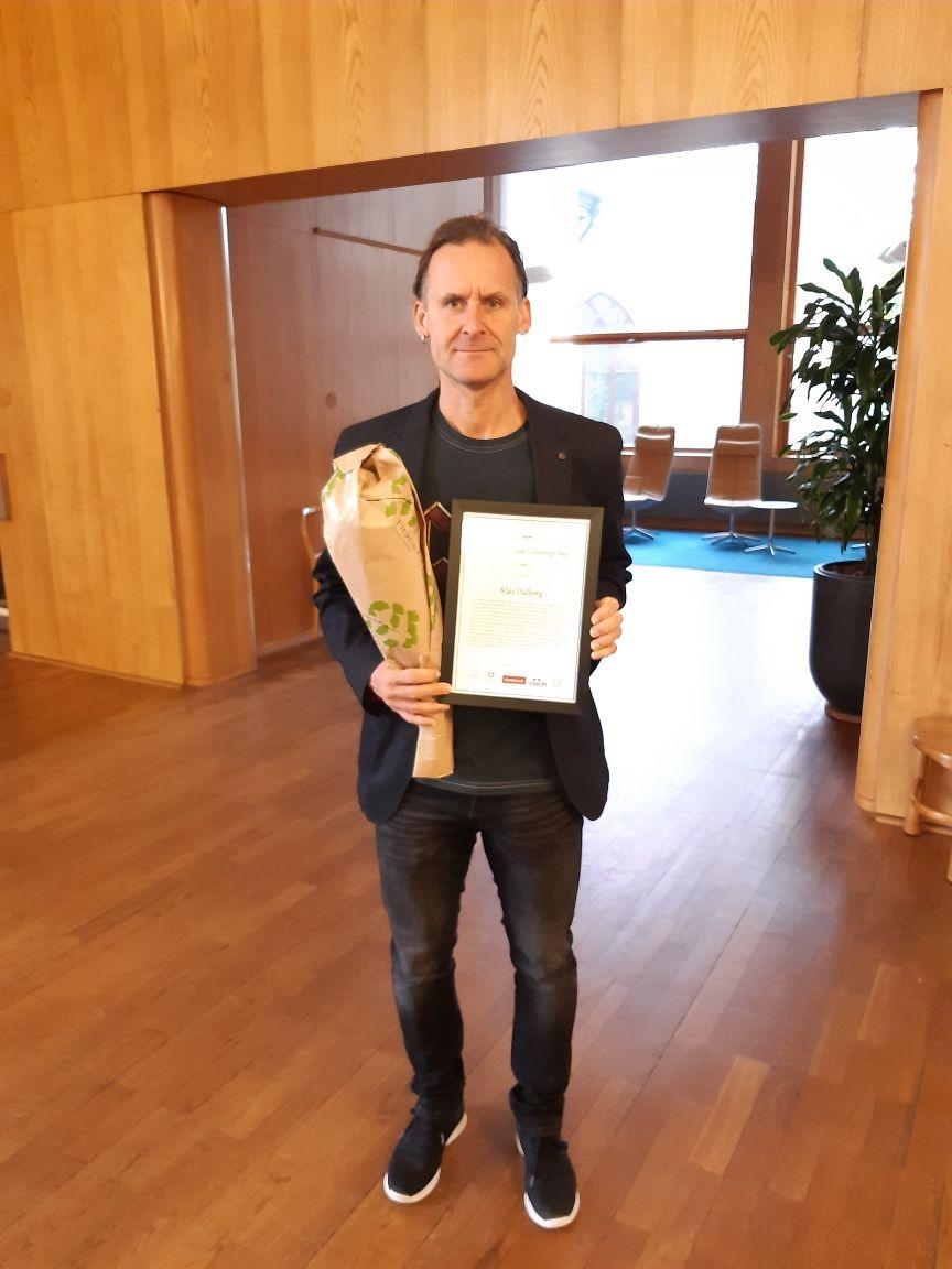 Klas Dahlberg - Årets Skyddsombud för Lärarförbundet.