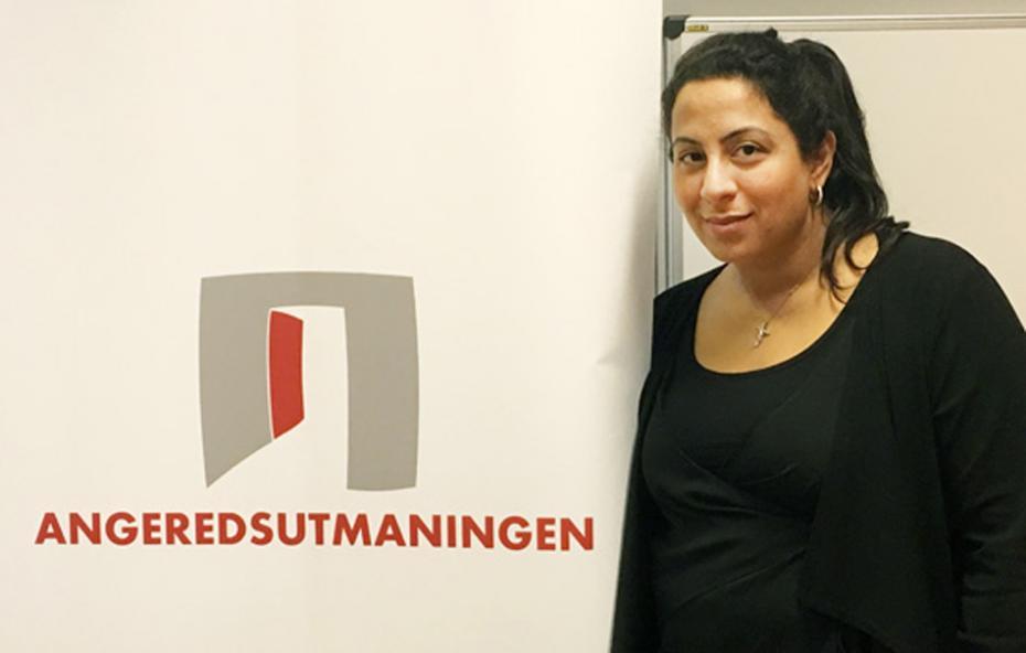 Petra Elio jobbar med Angeredsutmaningen och har bjudit in Volvo till Angeredsgymnasiet.