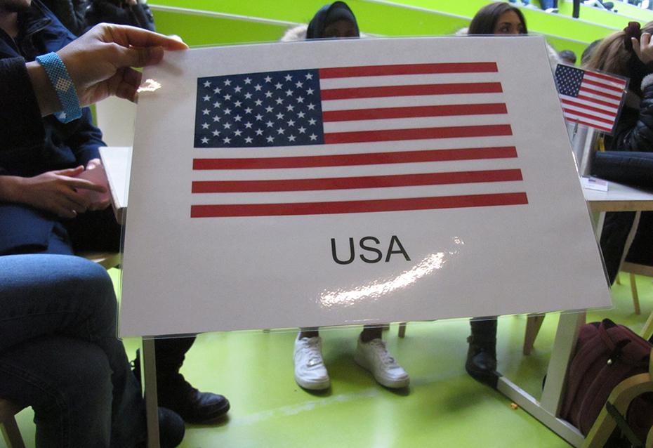 USA var ett av världens länder som var representerade.